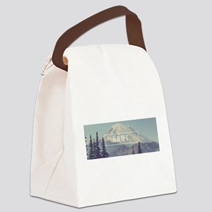 Mt. Rainier Canvas Lunch Bag