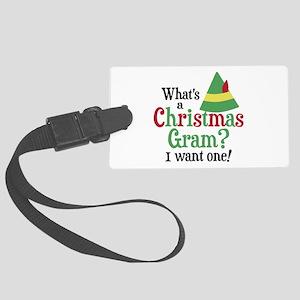 Christmas Gram Large Luggage Tag