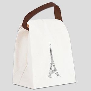 Eiffel Tower Canvas Lunch Bag