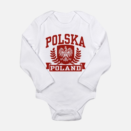 Funny Polska Long Sleeve Infant Bodysuit