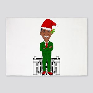 barack obama santa claus 5'x7'Area Rug