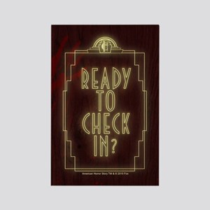 AHS Hotel Check In Rectangle Magnet