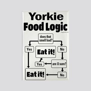 Yorkie Food Rectangle Magnet
