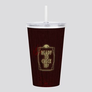 AHS Hotel Check In Acrylic Double-wall Tumbler