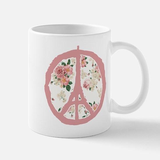 Flower Pattern Peace For Paris Mugs