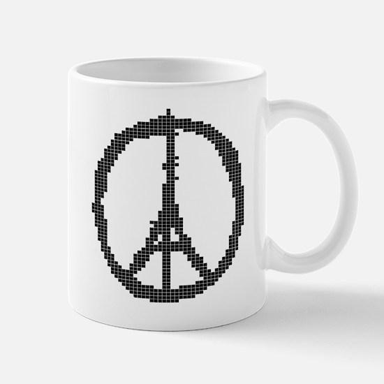 Pixel Peace For Paris Mugs