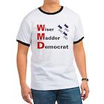 WMD Wiser Madder Democrat Ringer Tee