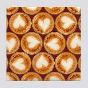 All you need is coffee, pattern Tile Coaster