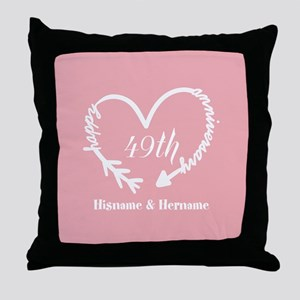 49th wedding anniversary pillows cafepress