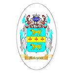 Makepeace Sticker (Oval 10 pk)