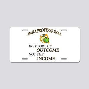 Paraprofessional Aluminum License Plate