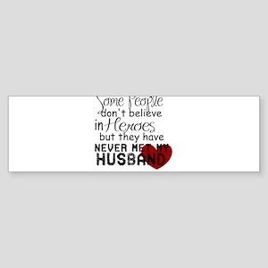 Husband hero Bumper Sticker