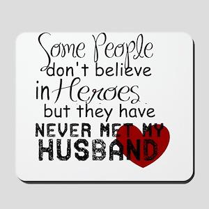 Husband hero Mousepad