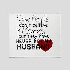 Husband hero Throw Blanket