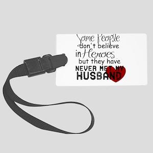 Husband hero Large Luggage Tag