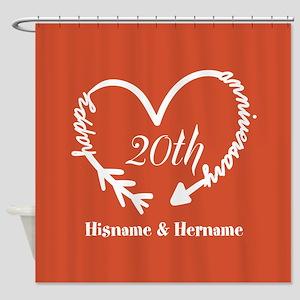 Custom Monogram Names Family Annive Shower Curtain