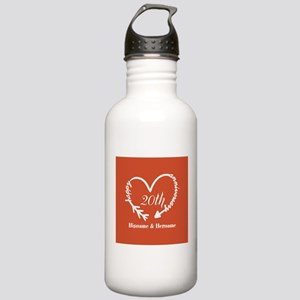 Custom Monogram Names Stainless Water Bottle 1.0L