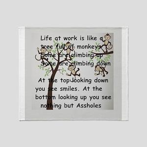 office humor- Throw Blanket