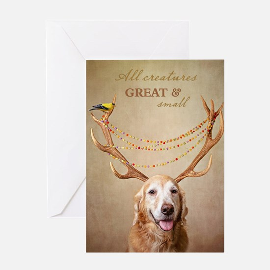 Apollo Antlers Greeting Cards
