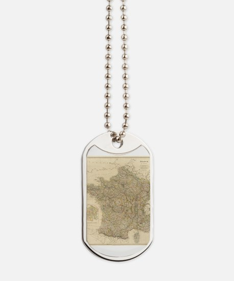 Unique France map Dog Tags