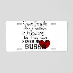Bubba Hero Aluminum License Plate