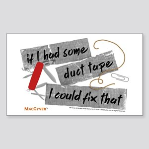MacGyver: Duct Tape Sticker (Rectangle)