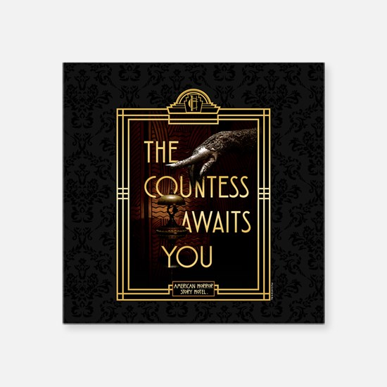 "AHS Hotel The Countess Awai Square Sticker 3"" x 3"""