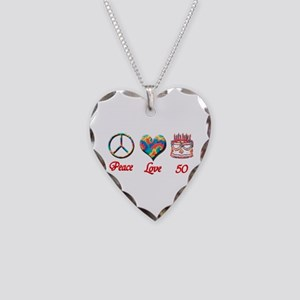 50th. Birthday Necklace Heart Charm