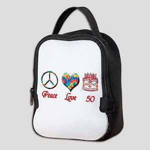 50th. Birthday Neoprene Lunch Bag