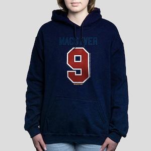 MacGyver: 9 Hockey Jerse Women's Hooded Sweatshirt
