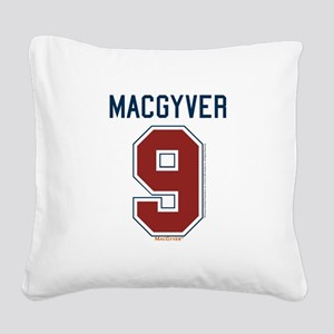 MacGyver: 9 Hockey Jersey Square Canvas Pillow
