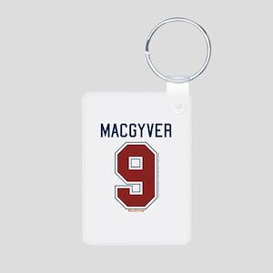 MacGyver: 9 Hockey Jersey Aluminum Photo Keychain