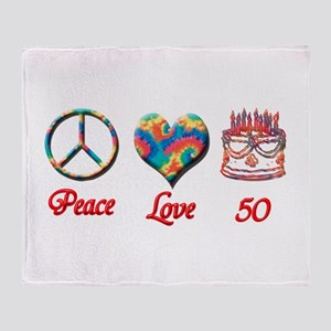 50th. Birthday Throw Blanket