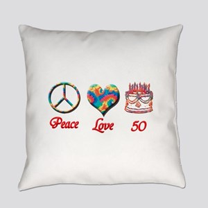 50th. Birthday Everyday Pillow