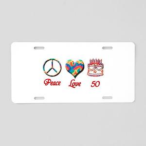 50th. Birthday Aluminum License Plate