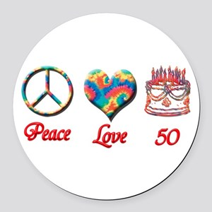 50th. Birthday Round Car Magnet