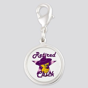 Retired Chick #9 Silver Round Charm