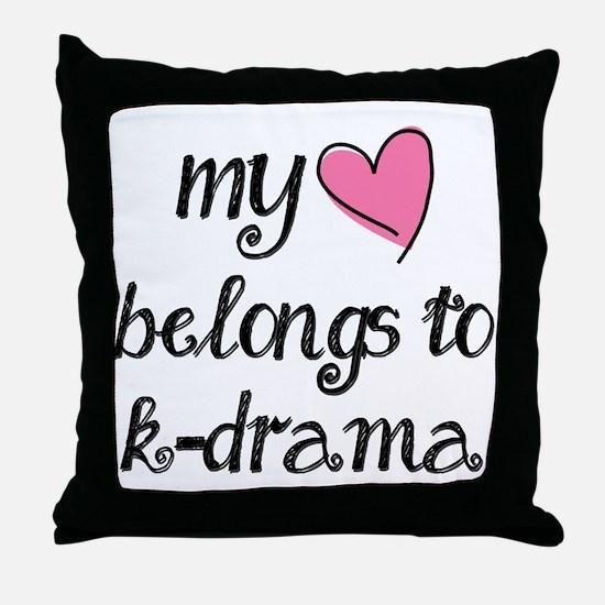 My Heart Belongs to K-Drama Throw Pillow