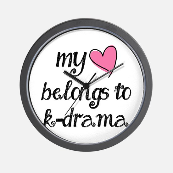 My Heart Belongs to K-Drama Wall Clock
