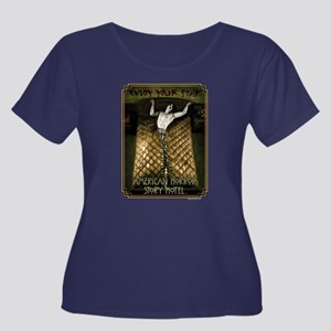 AHS Hote Women's Plus Size Scoop Neck Dark T-Shirt