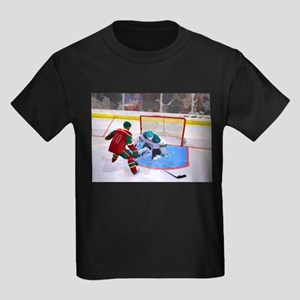 At the Net in Hockey T-Shirt