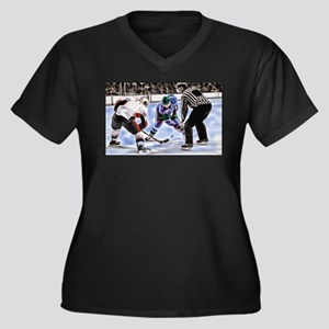 Hocky Players and Referee at Cen Plus Size T-Shirt