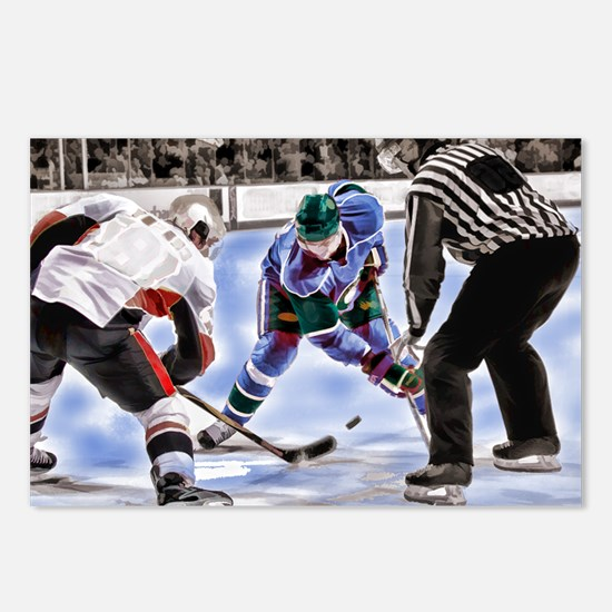 Hocky Players and Referee Postcards (Package of 8)