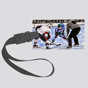 Hocky Players and Referee at Cen Large Luggage Tag