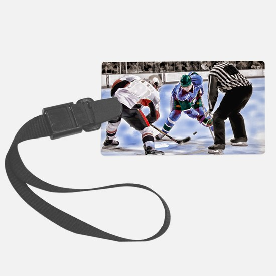 Hocky Players and Referee at Cen Luggage Tag