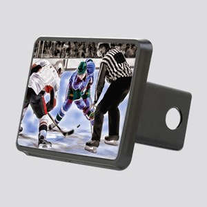 Hocky Players and Referee Rectangular Hitch Cover