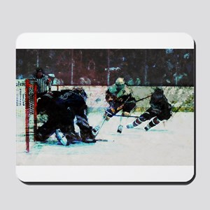 Grunge Hockey Match Mousepad