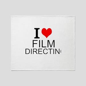 I Love Film Directing Throw Blanket