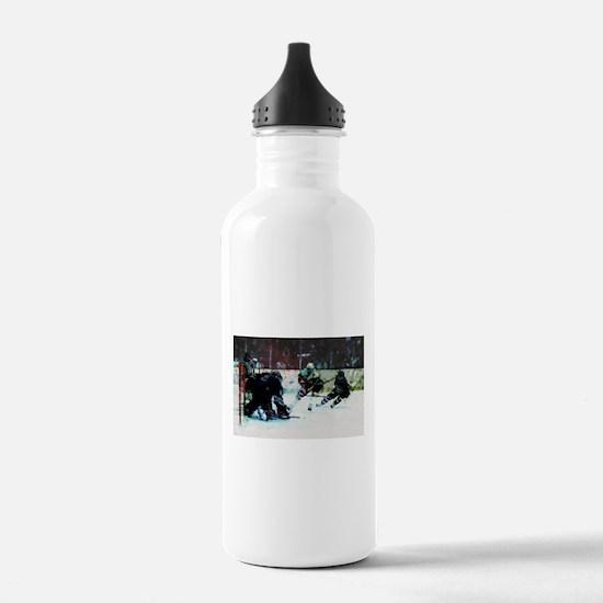 Grunge Hockey Match Water Bottle