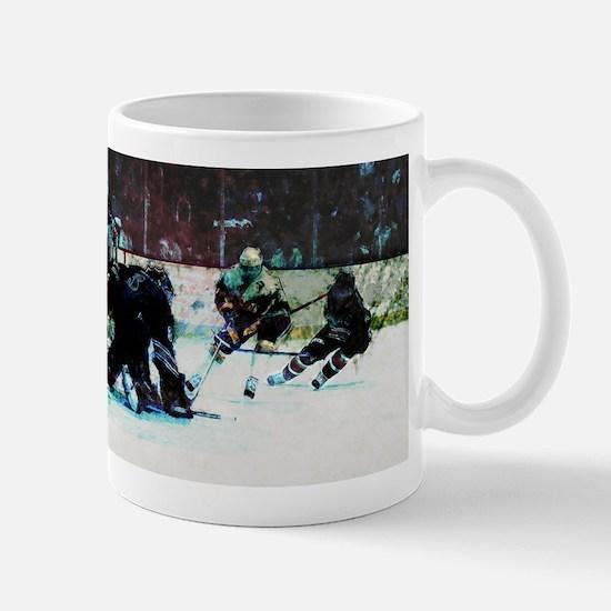 Grunge Hockey Match Mugs